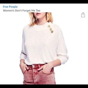 NWT Free People Forget Me Not Tee